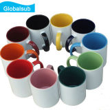 maneta de la taza del color de toner 11oz dos y taza del color del interior para la sublimación