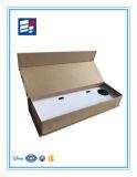 Caja de regalo plegable de lujo del papel corrugado de Kraft con la impresión de la insignia