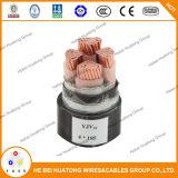 Напряжение тока стального силового кабеля панцыря ленты низкое