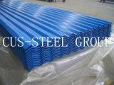 Placas de azotea del hierro del color/hoja acanalada del material para techos del metal de Ibr