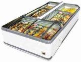 Congelador de vidro da porta, congelador do indicador do console da caixa do gelado do supermercado