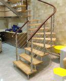O interior decora projetos espirais internos da escadaria da escadaria