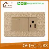 Interruptor eléctrico de la pared de la alta calidad del color del mosaico
