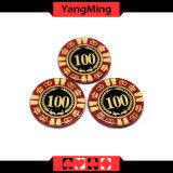 Anti - die Fälschung der Kristallschürhaken-Chips der runde Form-Kasino-Chips/kann Zoll Ym-Cp001