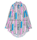 Camicia del `S delle donne della fibra di acetato della stampa