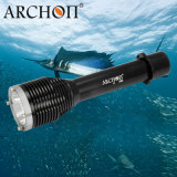 Archon W28のスキューバダイビングの懐中電燈1000の内腔強力なLEDのダイビングライト26650電池が付いている水中100m防水サーチライトのトーチ