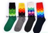 Kundenspezifischer Baumwollgroßverkaufglückliche bunte Mens-Kleid-Socken