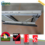 PVC nero Windows di colore, due inclinazione del telaio UPVC e girata Windows con vetro As2208
