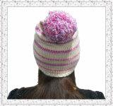 Beanie Hat de Madame Fleece Knitted avec la configuration de pistes (1-3474)
