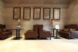 Badezimmer-Wohnzimmer-Schlafzimmer-Dekoration weißer Petrifide hölzerner Marmorbodenbelag