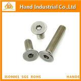 Parafuso principal de Csk do soquete Hex do aço inoxidável M18 DIN7991