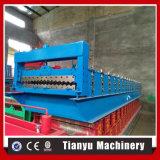 Aluminiumdach-Profil runzelte die Blatt-Rolle, die Maschine bildet
