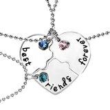 Os melhores amigos relativos à promoção do Presente-Bff da jóia amam para sempre colares Pendent do cristal da amizade do coração da ruptura