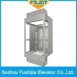 Лифт виллы пассажира замечания стекла хорошего качества Sightseeing панорамный с приспособлением Vvvf