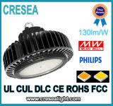 Luz industrial elevada da luz 200W do louro do diodo emissor de luz do UFO do lúmen elevado quente da venda com lente do PC