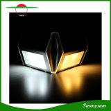 Mini formato lampada solare di colore 2 LED di via della piattaforma del percorso di punto delle scala della scala indicatore luminoso chiaro solare bianco bianco/caldo di Steel+ABS+PC inossidabile