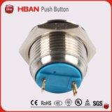 переключатель кнопка 2 Pin одиночного Поляк одиночного хода 16mm цветастый терминальный