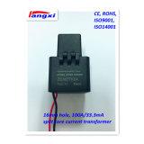 3000:1 100A/33.3mA del orificio del transformador corriente 16m m de la base partida 0.5class