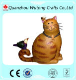 현대 Handmade 수지 정원 훈장 귀여운 고양이 작은 조상