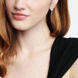 백색 수정같은 매력적인 Huggie 귀걸이 여자의 둘레에 도금되는 화이트 골드