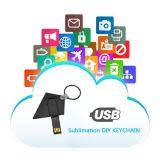 MDF Keychain do USB do presente do Sublimation com espaço em branco da transferência térmica