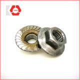 La Chine a fait la noix de bride d'hexa DIN 6923 avec qualité de prix usine la bonne