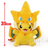 Jouet de Pikachu de peluche bourré par personnage de dessin animé de vente en gros de cadeau de Noël de Noël