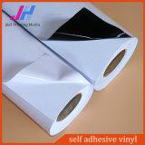 Weißer/grauer/schwarzer Kleber Belüftung-selbstklebender Vinylaufkleber (140GSM)
