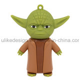 Movimentação do flash do USB do PVC de Cuty Yoda (UL-PVC022)