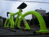 Bicicleta inflável gigante, bicicleta inflável para anunciar
