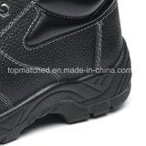 Nuevos zapatos de seguridad de moda del alto talón de las señoras con el casquillo de acero de la punta