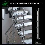 Barandilla del acero inoxidable, pasamano de la escalera, barandilla