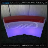플라스틱 재충전용 LED 가구 다채로운 바 의자