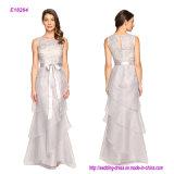 Vestido de noite de Organza do laço do Sequin de Adrianna Papell com plissados da série