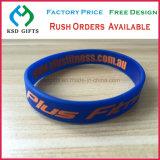 Bracelets faits sur commande bon marché de silicones de logo de vente chaude