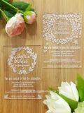 カスタム美しいアクリルの招待は結婚式を一義的にさせる