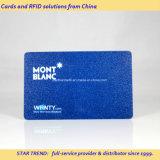 Cartão de sociedade colorido do Glitter para o PVC do seguro magnético com codificação
