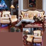 Итальянская кожаный софа для живущий мебели комнаты (D992A)