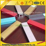 Customziedのアルミニウム家具の装飾のための輝いた多彩なアルミニウム食器棚のプロフィール