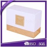 Elegantes weißes Beschaffenheits-Papier-kosmetischer verpackenkasten für Glas