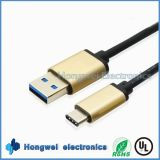 High Speed ​​3 a USB 3.1 Type-C à un câble mâle USB 3.0 pour Android Phone