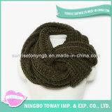 Longue écharpe en gros de polyester de coton tricotée par mode acrylique