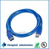 1.5 Мужчина USB3.0 m 5gbps чисто медный к кабелю USB данным по выдвижения USB 3.0 женщины