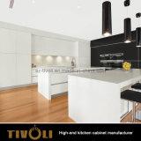 Малая белая мебель кухни с высокорослым хранением кладовки (AP028)