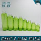 Grünes Glas-luftloses Pumpen-Flaschen-Bildschirm-Drucken
