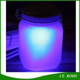 Lampada solare della bottiglia dell'indicatore luminoso di vetro centrale solare del vaso per la decorazione romantica del giardino