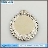 Médaille faite sur commande de blanc de logo de médailles d'or de blanc de médaille de gravure