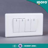 米国式の電気アプリケーション4一団の壁ボタンおよびスイッチ