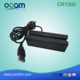Leitor de cartão magnético do USB da trilha Cr1300 3 mini para o projeto de Tailândia Dlt