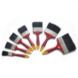 Cepillo plano de la cerda de la mezcla de la maneta plástica negra profesional del color (GMPB012)